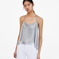 SPECIAL EDITION METALLIC MESH TOPDETAILS