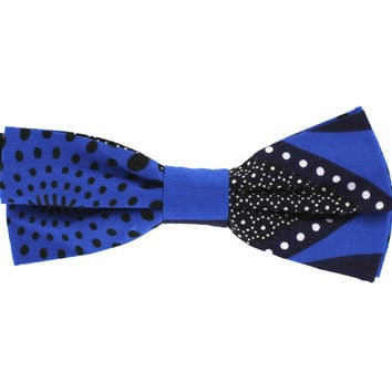 Tok Tok Designs Pre-Tied Bow Tie for Men & Teenagers (B420, African Wax Fabric)