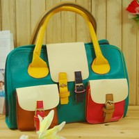 Korean women leisure package new simple colour matching handbag $40
