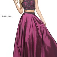 Sherri Hill Two-Piece Prom Dress with Beaded Top