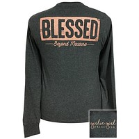 Girlie Girl Originals Preppy Blessed Long Sleeve T-Shirt