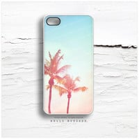 iPhone 5C Case Palm Tree, iPhone 5s Case Teal Sky, iPhone 5 Case, Palm Tree iPhone 4s Case, LA iPhone Case, Sunset TOUGH iPhone Cover N4