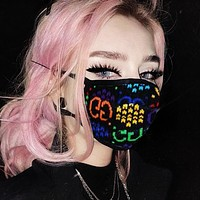 Gucci Colorful Double GG Bouncing sugar Print Fashion Comfortable Breathable GG Print Masks