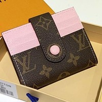 Inseva LV Louis Vuitton New fashion  leather wallet purse handbag card package