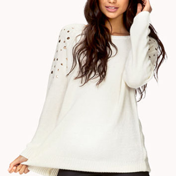 Total Stud Cable Knit Sweater   FOREVER 21 - 2078226583
