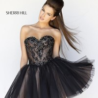 Sherri Hill Short Dress 21156 at Prom Dress Shop