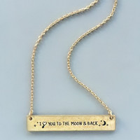 I Love You To the Moon & Back Necklace