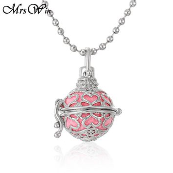 Aroma Diffuser Necklace Love Heart Sweat Necklace Lockets Pendant Perfume Essential Oil Aromatherapy Locket Necklace With Pads