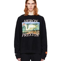 Heron Preston Woman Men Fashion Print Top Sweater Pullover