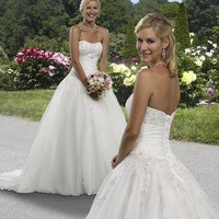Forever Yours Wedding Dress Style #411124: Prom Gowns, Bridal Gowns, Bridal Dresses, Bridesmaids Gowns & Formal Dresses from TheBridalShop.com