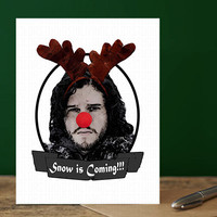 Game Of Thrones - Lannister - Funny Christmas Card - Jon Snow - Gifts For Dad - Humour - Christmas Gift - Christmas Card For Boyfriend Jon