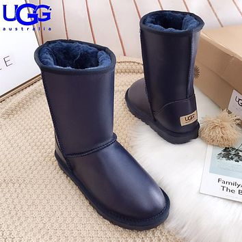 Wearwinds UGG hot seller of stylish, solid-colored mid-leg women's casual uggs with wool boots #9