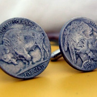 Buffalo Nickel Cufflinks   Gifts for Men - Made in the USA   Owen & Fred