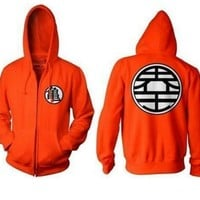 ZDD Anime Dragon Ball Z Zip Up Hoodie