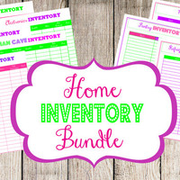 INSTANT DOWNLOAD and EDITABLE- 8 Editable Pdf Documents- Home Inventory PRiNtAbLeS- Home Inventory Bundle
