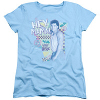 SAVED BY THE BELL/HEY MAMA-S/S WOMEN'S TEE-LIGHT BLUE