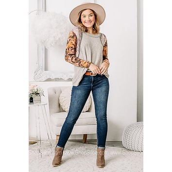 Just Stick With It Soft Knit Cheetah Top