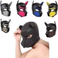 Fetish Dog Soft Latex Rubber Full Face Mask (7 Styles)