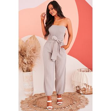 Lighthouse Lover Strapless Jumpsuit (Haze)
