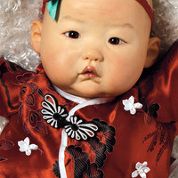 Asian Baby Doll, Baby Mei , 20 inch Chinese Baby in Vinyl, Weighted Body