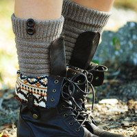 All In Good Time Boot Socks: Mocha