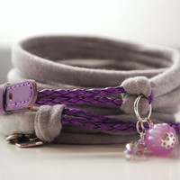 Funky Leather and Stretch Wrap Bracelet Fashion accessory Women Teens Wrist Tattoo Cover