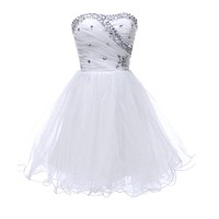 Short Black White Cocktail Dresses 2017 Masquerade Prom Ball Gown Special Occasion Cocktail Party dresses Girls Homecoming Dress