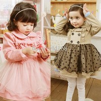 Fashion Children Girl's Long Sleeve with Lace Design Children's Coat | Buy Wholesale On Line Direct from China