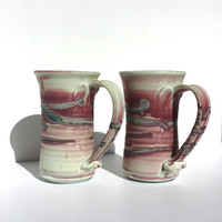 Mauve Pottery, Handmade pottery, Handmade Steins, Hand-thrown,Tankards, Pottery, Mugs, Beer Mugs, Earthenware