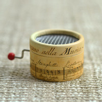 Paper hand crank music box 18 Notes music box movement DIY wedding souvenirs gifts old musical notes style