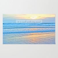 It Is Well With My Soul Area & Throw Rug by Shawn Terry King