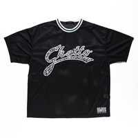 GHETTO BLING BLING MESH BIG TEE / BLACK