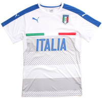 FIGC Italia Training Soccer Jersey White