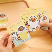4X Kawaii Cute Gudetama Adhensive Sticky Notes Memo Pads Decorative Stationery School Office Supply