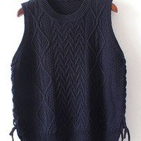 Cupshe Kiss Me Slowly Lace Up Sweater Vest