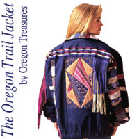 Strip and Patchwork Quilt and Fringe Trim Jacket UNCUT Oregon Trail Jacket 127 Wearable Art Fall or Winter Jacket Sewing Pattern