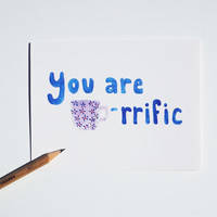 tea card You are Tea-riffic thank you stationery notecard