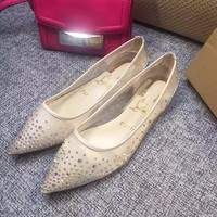 Sale Christian Louboutin CL Follies Strass Flat