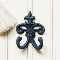 Small Fleur de lis Wall Hook - Choose Your Color - Colorful Cast and Crew