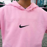 Nike: wind easing embroidery hooded couples who clothes men and women