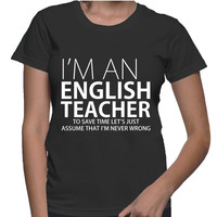 I'm An English Teacher Female Style