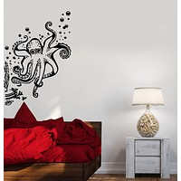 Wall Decal Octopus Tentacles Sea Animal Marine Bubbles Vinyl Stickers Unique Gift (ig2900)