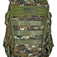Athletic Backpack - Green Digital Camo