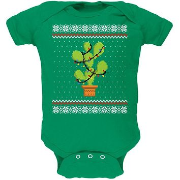 Cactus Prickly Pear Tree Ugly Christmas Sweater Soft Baby One Piece