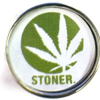 Stoner Marijuana Cannabis Chronic Pot Leaf 18MM - 20MM Fashion Snap Jewelry Charm