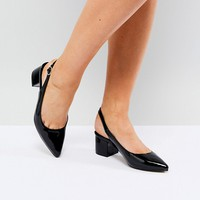 Truffle Collection Sling Back Mid Heel Shoe at asos.com
