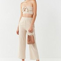 UO Just In Time Tie-Front Tube Top   Urban Outfitters
