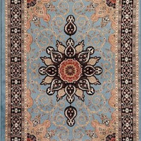 1053 Blue Isfahan Oriental Area Rugs
