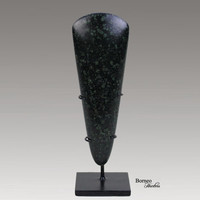 """Axe Green Stone From Papua New Guinea 6.8"""" Currency Massim Green Axe Blade Wealth Object. Stone Axe Head Collectible Artifact"""