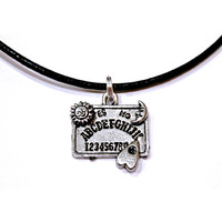 Ouija Board Spirit Witchy Gothic Wicca Occult Customizable Choker Necklace Earrings